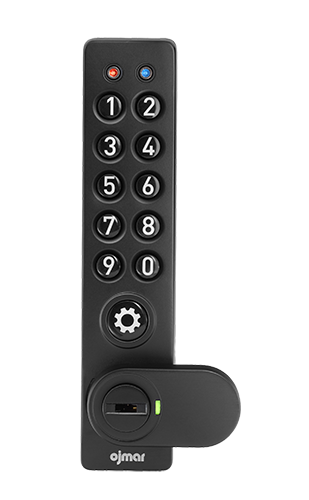 Ojmar black Electronic ADA lock