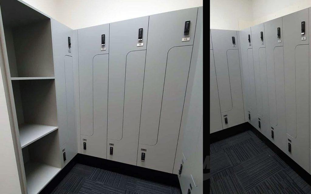 Ojmar Combi Pro combination lock on fancy tall lockers