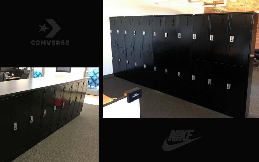 Ojmar Combi Combination lock on black Lockers
