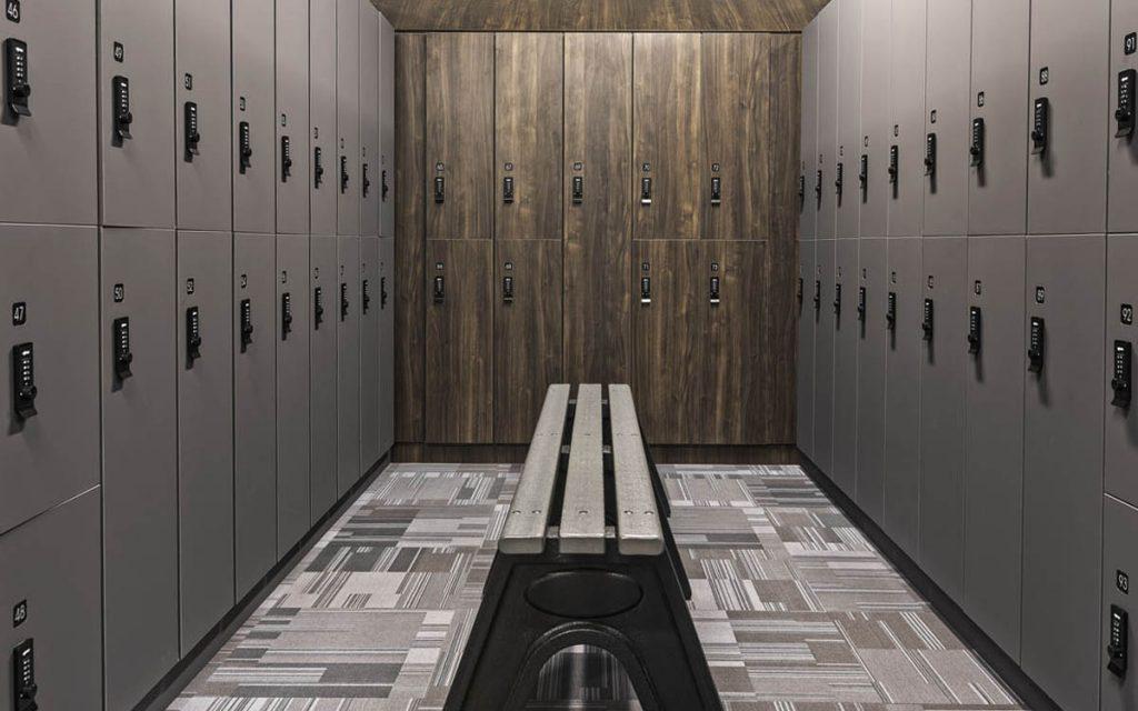 Ojmar Combi Pro Combination lock on Grey Lockers