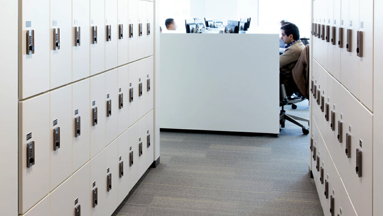 ojmar Combi Combination Lock on white in corporate office