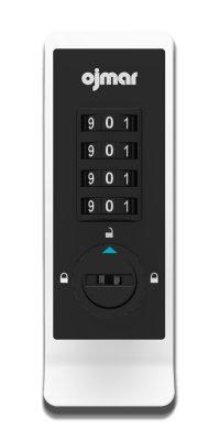 Ojmar Combi Pro Combination Lock in White