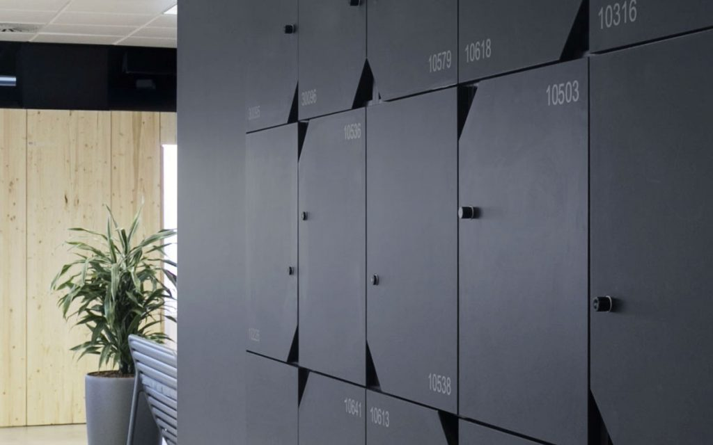 OTS Advance RFID Locks on black lockers