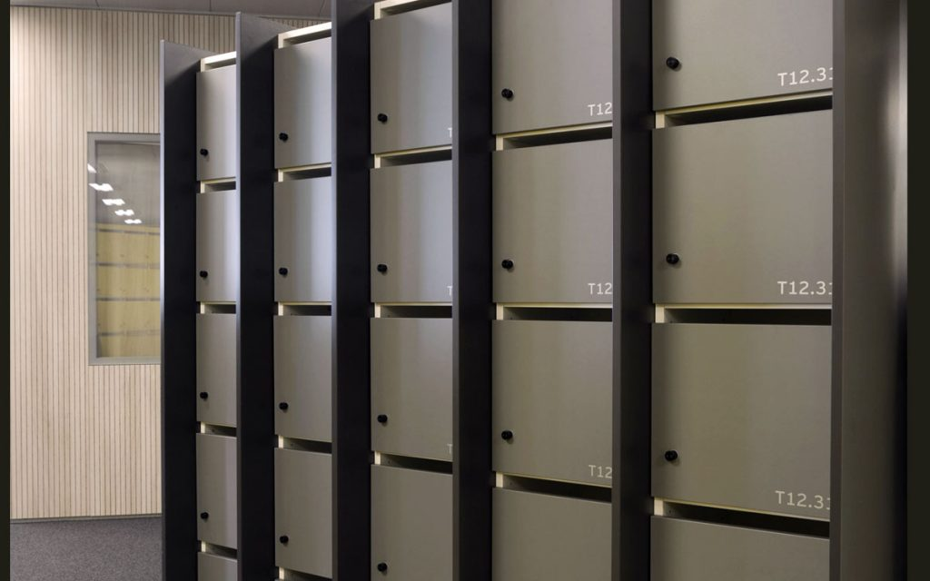 OTS Advance RFID locks on Grey lockers