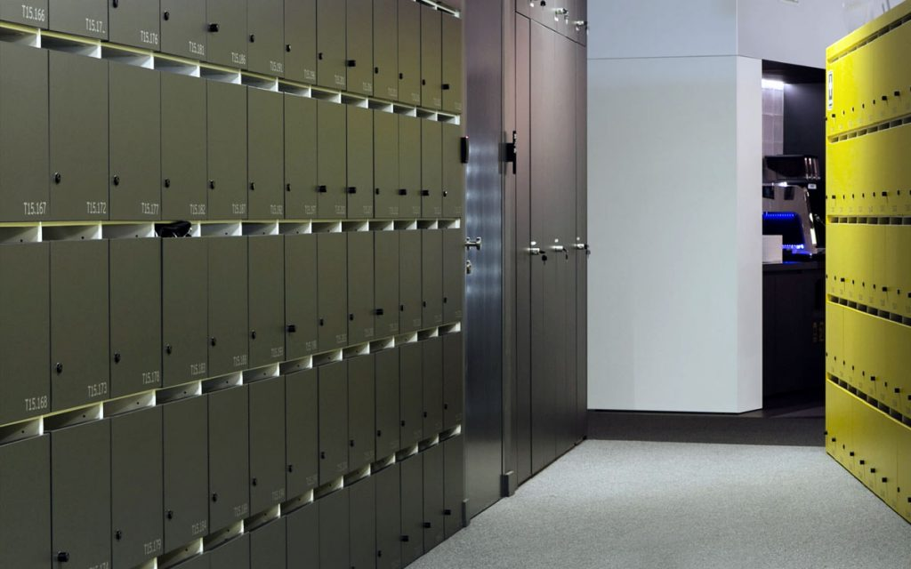 OTS Advance RFID Locks on Silver lockers