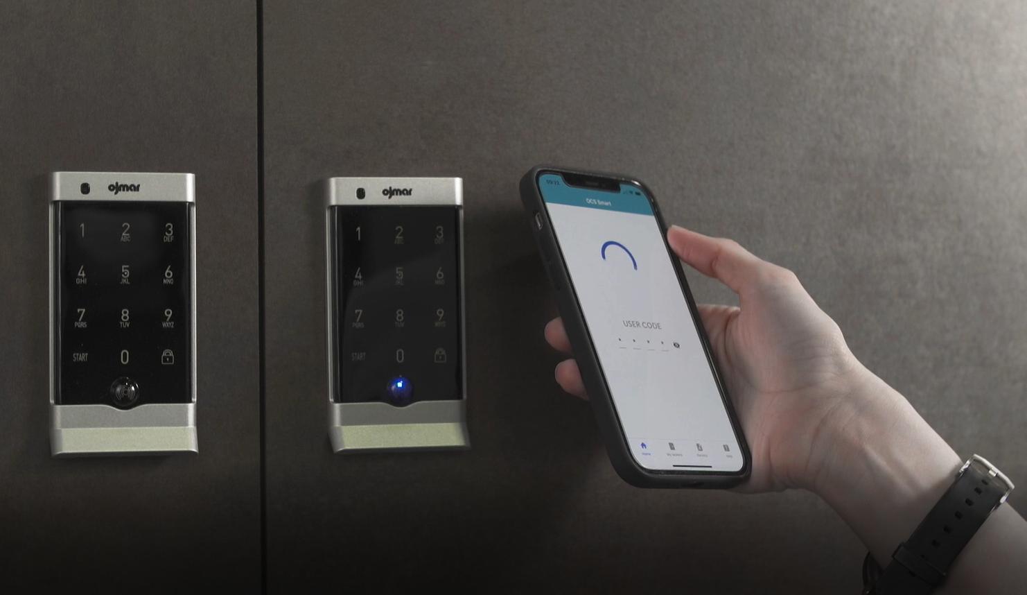 OCS Smart Bluetooth electronic lock with smart phone